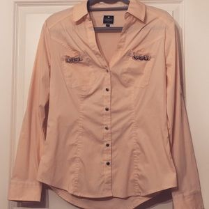 Express Tops - NWOT Express Pale Pink Button-Down Blouse - Size M